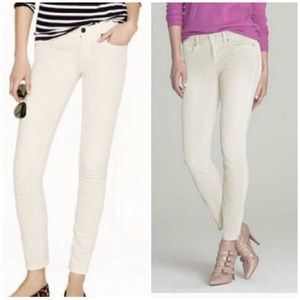 J crew toothpick supper skinny stretch chords s 27